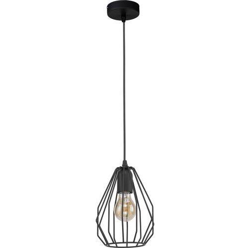 Lampa wisząca druciana zwis loft TK Lighting Brylant 1x60W E27 czarna 2256, 2256