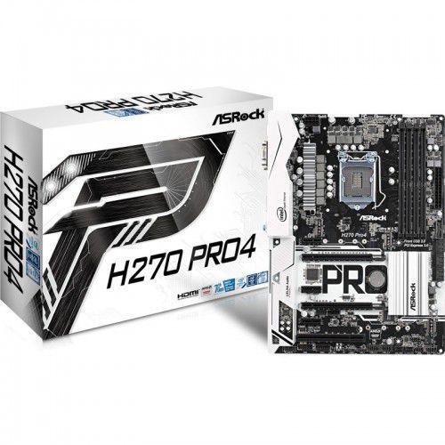 Płyta główna ASRock H270 Pro4, H270, DDR4, HDMI, DVI-D, VGA, ATX Darmowy odbiór w 20 miastach!