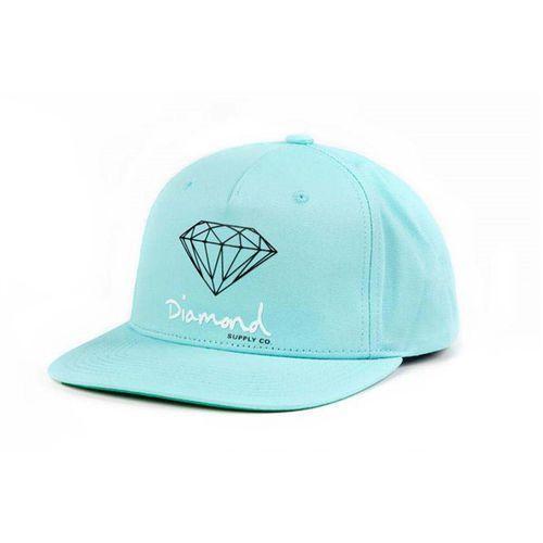 czapka z daszkiem DIAMOND - Og Sign Snapback - Core Diamond Blue (DBLU)