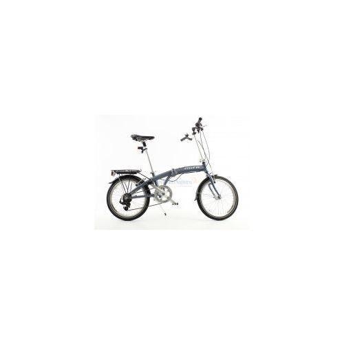 Aluminiowy rower składany SKŁADAK MIFA 7- biegów SHIMANO z bagażnikiem, kolor antracyt