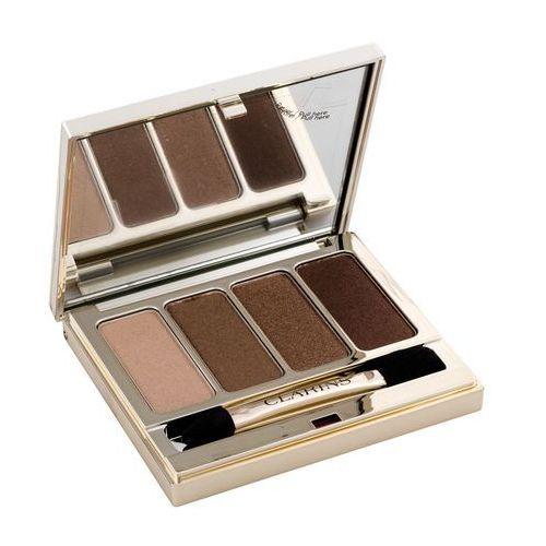Clarins eye make-up 4 colour eyeshadow palette paleta cieni do powiek odcień 03 brown 6,9 g