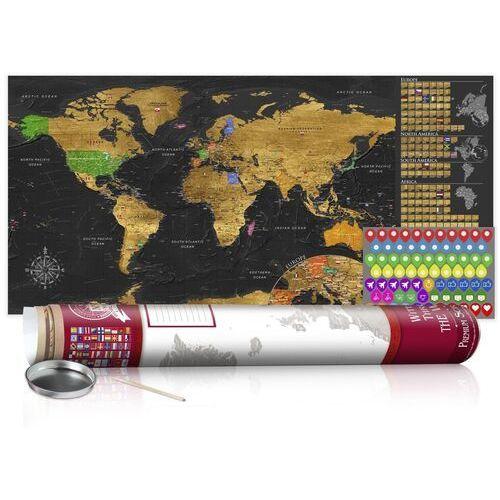 Artgeist Mapa zdrapka - złota mapa - plakat (wersja angielska)