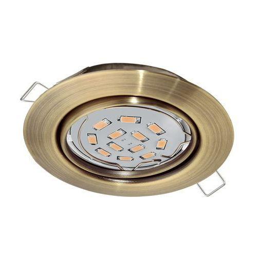 Oprawa wpuszczana downlight oczko peneto 1x5w gu10-led mosiądz oksyd.94243 marki Eglo