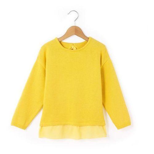 Sweter, dół wykończony falbanką 3-12 lat