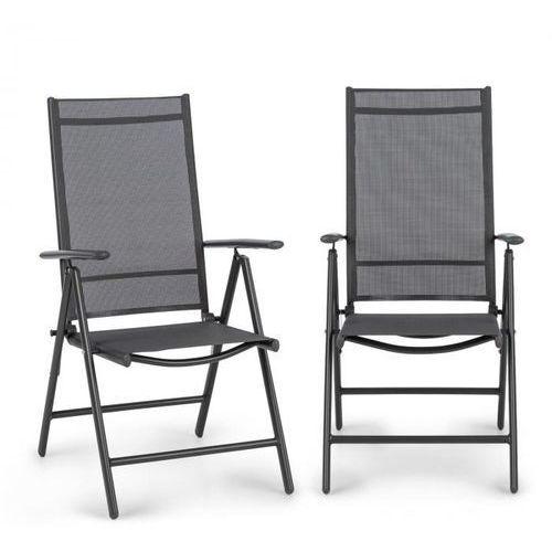 Blumfeldt almeria, krzesło składane, zestaw 2 sztuk, 56,5 x 107 x 68 cm, comfortmesh, antracytowe (4060656152153)