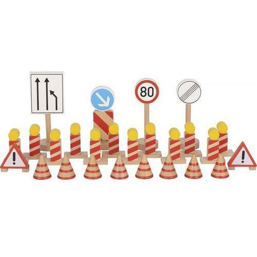 Znaki drogowe drewniane - zestaw znaków remontowych marki Goki