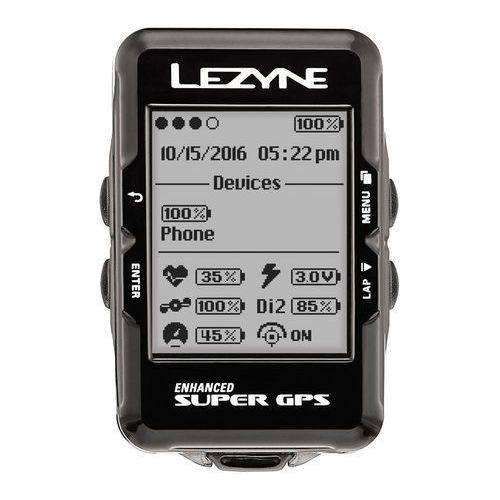 Komputer rowerowy LEZYNE Super GPS czarny, A-LZN-1-GPS-SPR-V204
