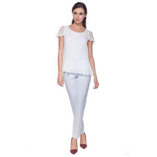 Biała bluzka z falbaną - Potis & Verso