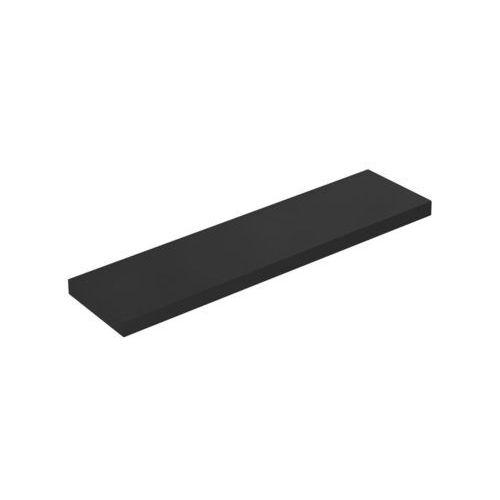 Spaceo Półka ścienna komorowa czarna 110 x 23,5 cm