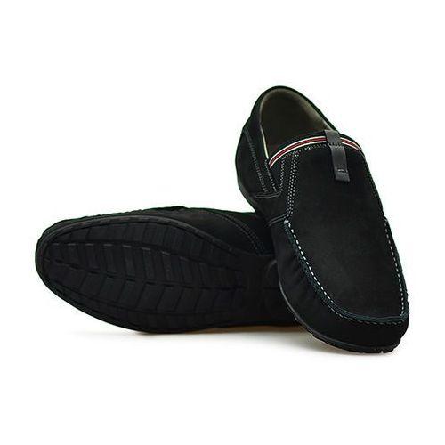 Mokasyny 03-0358-001 czarne nubuk marki Nik