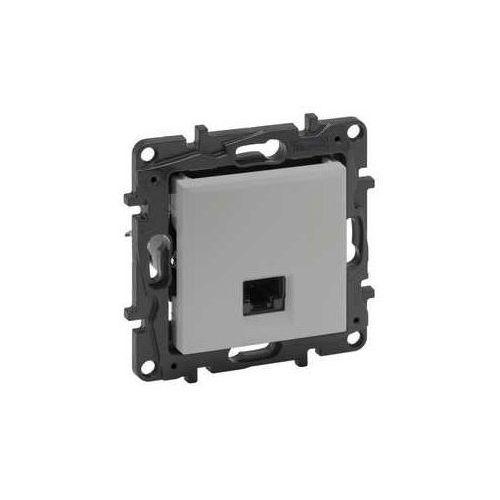Gniazdo teleinformatyczne niloe step 863357 rj45 kat. 5e ftp pojedyńcze aluminium marki Legrand