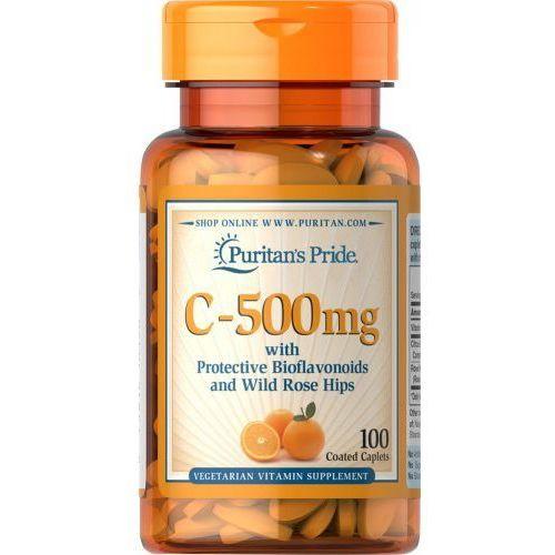 Witamina C - 500mg Kwas L-askorbinowy 100 kapsułek Puritan's Pride (2552501002260)