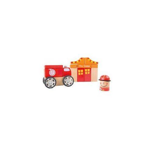 Zestaw konstrukcyjny drewniany Straż Pożarna dla Dzieci