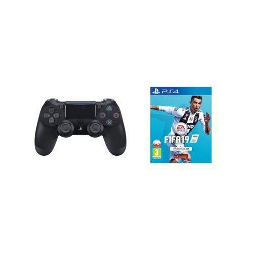 Kontroler bezprzewodowy SONY PlayStation DUALSHOCK 4 v2 Czarny + FIFA 19
