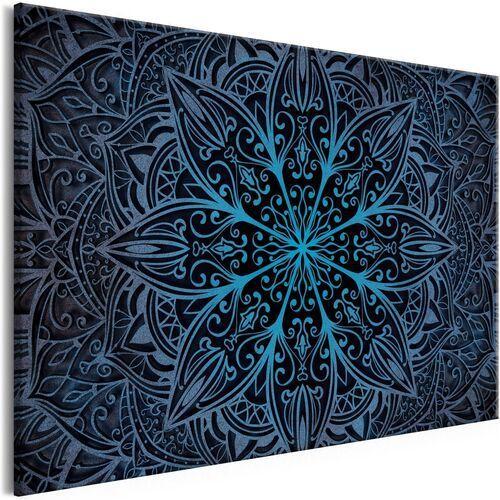 Obraz - kwiaty orientu (1-częściowy) szeroki niebieski marki Artgeist