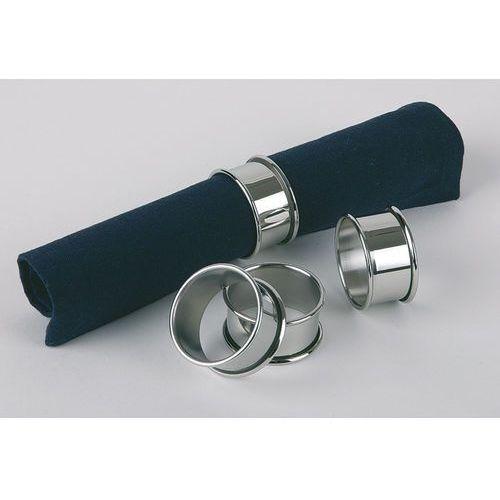 Aps Pierścień ze stali nierdzewnej do serwetek o średnicy 47 mm, zestaw 4 sztuk | , 04446