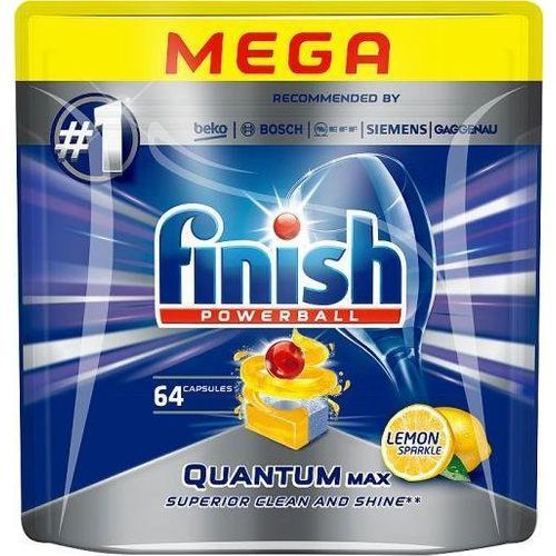 Finish powerball quantum max tabletki do mycia naczyń w zmywarkach lemon sparkle 64szt (5900627076110)