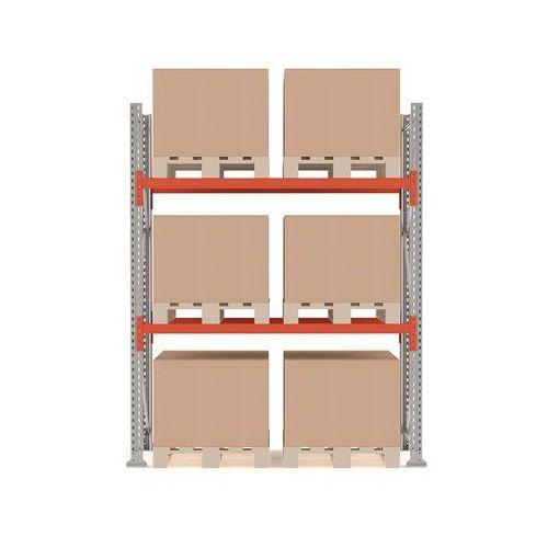 Aj produkty Regał paletowy ultimate, moduł podstawowy, 2500x1850x1100 mm, 6 palet, 1000kg/paleta
