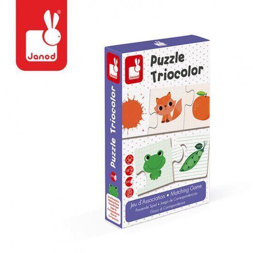 Janod Trzyczęściowe puzzle kolory 30 elementów,