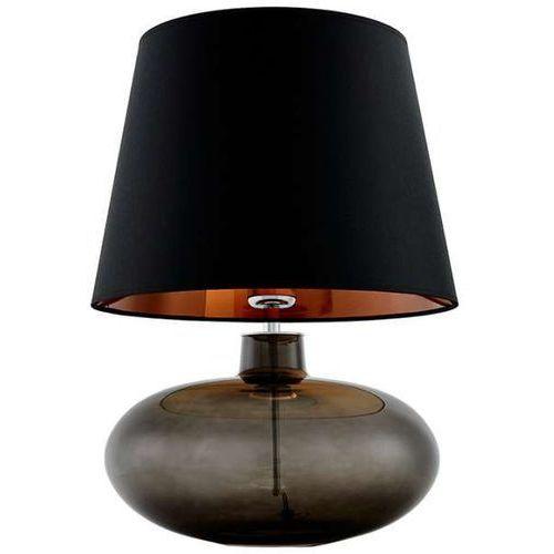 Kaspa Stojąca lampa klasyczna sawa 40587102 stołowa lampka biurkowa abażurowa do sypialni nocna grafitowa czarna miedziana (1000000567489)