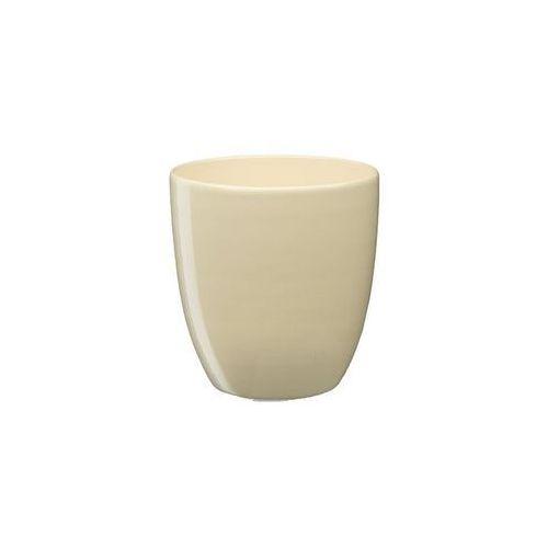 Doniczka ceramiczna 13 cm beżowa nova 1 j10 marki Eko-ceramika