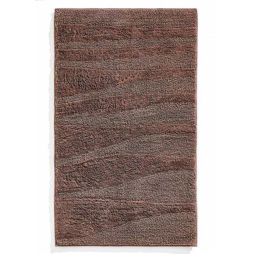 Dywaniki łazienkowe w strukturalny wzór w falowane pasy czekoladowy marki Bonprix