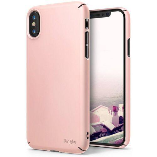 Etui slim iphone x peach pink marki Ringke