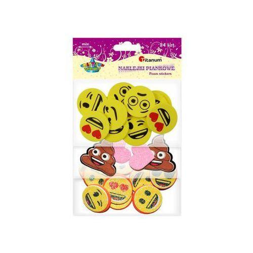 Emotki emoji naklejki piankowe mix 24szt CRAFT-FUN (5907437703441)