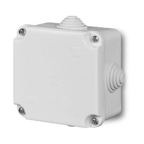 Elektro-plast nasielsk Puszka n/t hermetyczna pusta dla cu do 2.5mm2 88x88x60mm ip55 biała pk-1 0224-00 (5901130480197)