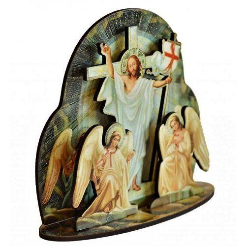 Drewniana figurka Zmartwychwstałego Chrystusa, UP112SW