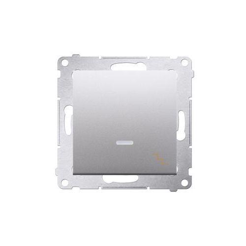 Simon 54 łącznik schodowy z podświetleniem led (moduł) 10ax, 250v~, szybkozłącza; srebrny mat dw6l.01/43 wmdl-061xxx-043 marki Kontakt - simon