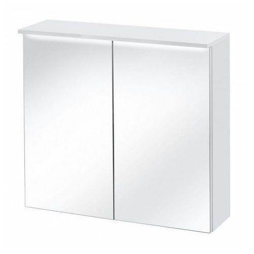 Podwieszana szafka łazienkowa z lustrem 60 cm Oriana 6X - Biała, kolor biały