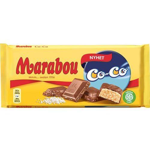 Marabou - CoCo - czekolada mleczna z płatkami kokosowymi - 185g - ze Szwecji