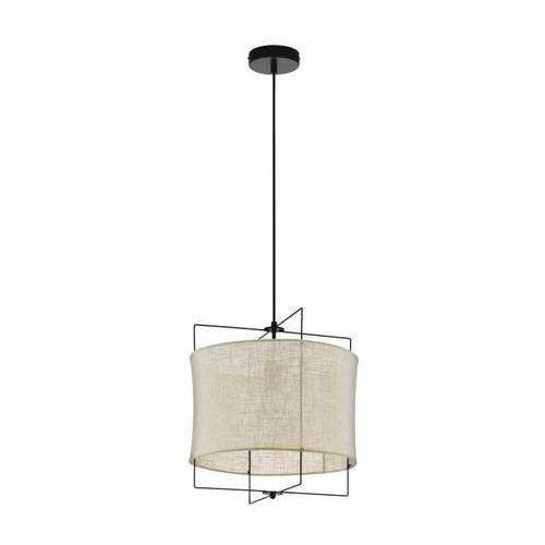 Eglo bridekirk 43292 lampa wisząca zwis 1x60w e27 czarny/drewno