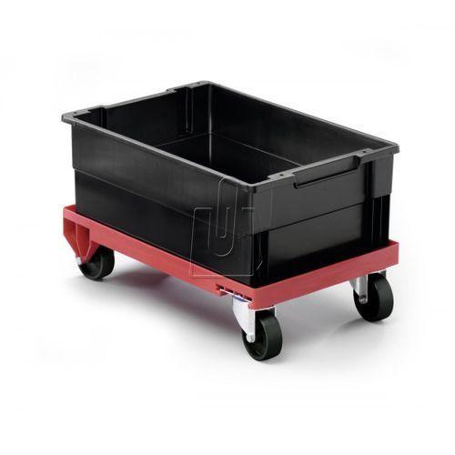 Wózek transportowy Durable z 4 kółkami obrotowymi czerwony 1809693180 (7318089693185)