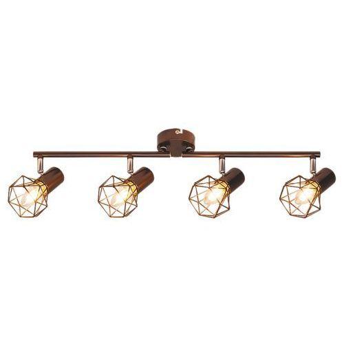 Plafon lampa sufitowa listwa Rabalux Odin 4x40W E14 brąz 6885 (5998250368856)