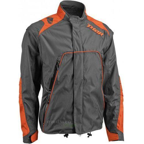 Thor_2018 Kurtka offroadowa thor range jacket charcoal / orange