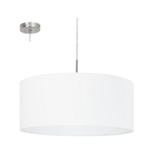 Lampa wisząca Eglo Pasteri 31575 z abażurem 1x60W E27 fi53 biała >>> RABATUJEMY do 20% KAŻDE zamówienie!!!