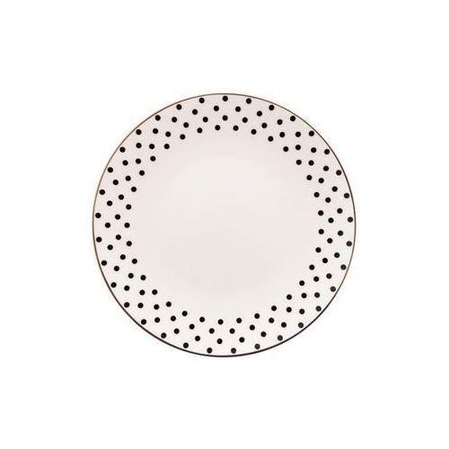 Home Talerz deserowy porcelanowy kropki portofino bella