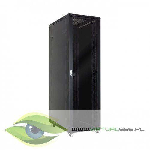 """szafa stojąca rack 19"""" 42u 600x600mm czarna (drzwi szklane) marki Linkbasic"""