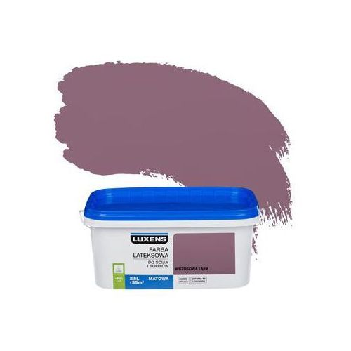 Farba wewnętrzna do ścian i sufitów emulsja 2.5 l wrzosowa łąka marki Luxens