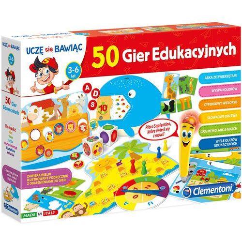 Clementoni Mówiące pióro 50 gier edukacyjnych uczę się bawiąc   60472 (8005125604722)