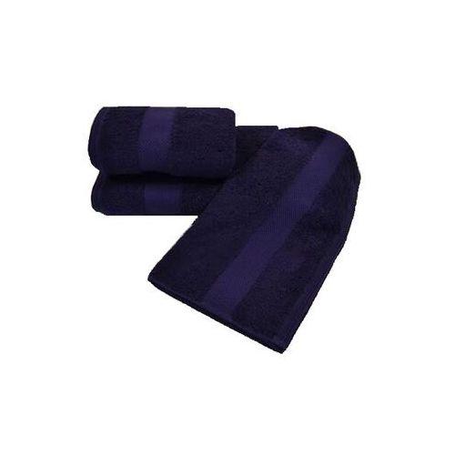 Zestaw podarunkowy małych ręczników deluxe ciemnoniebieski (śliwka) marki Soft cotton