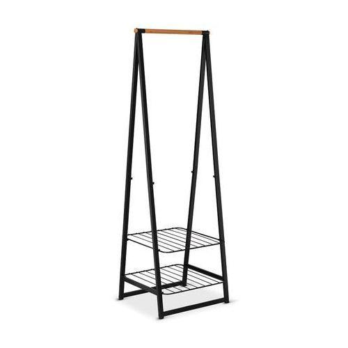 Brabantia - Wieszak na ubrania z półkami, 60,00 cm, czarny - czarny, 118203