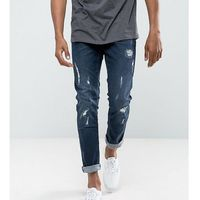 Blend Cirrus Skinny Fit Jean Ripped Dark Wash - Navy