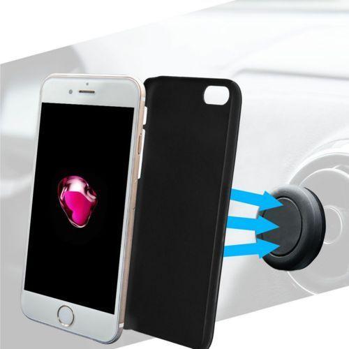Etui AZURI iPhone 7 czarny + uchwyt sam. magnetyczny