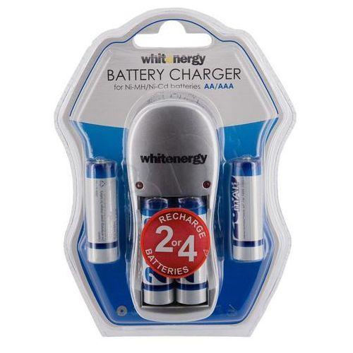 Whitenergy  ładowarka do akumulatorów|4xaa/aaa|230v|4xaa 2800mah ni-mh darmowa dostawa do 400 salonów !! (5908214353316)