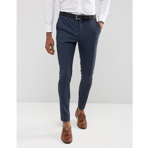 Selected homme  super skinny suit trousers in stretch in navy - navy