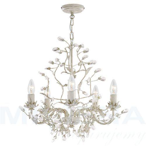 Almandite lampa wisząca 5 kremowe złoto kryształ (5013874337641)