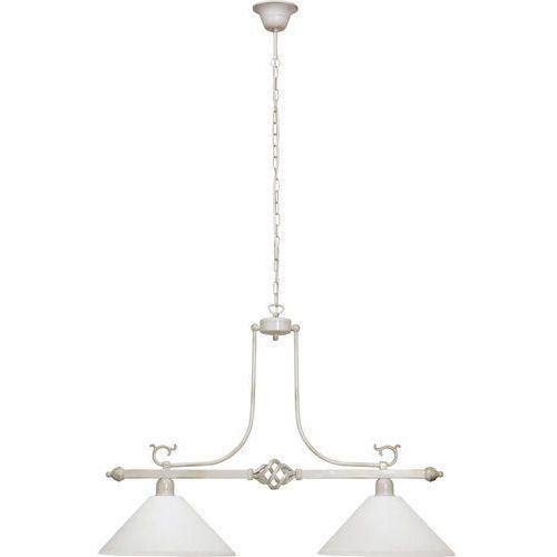 Lampa oprawa wisząca zwis Nowodvorski Cora 2x60W E27 biała 3486, 3486